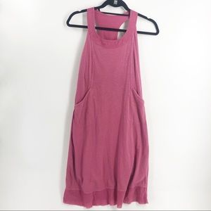 Athleta Pink Cotton Summer Dress with Pockets SM